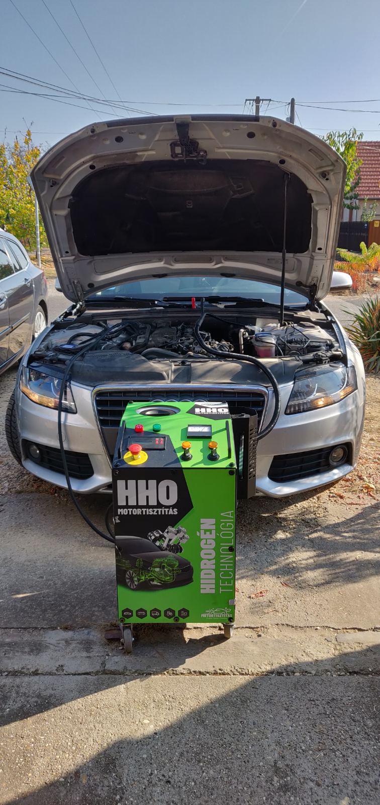 HHO Motortisztítás Audi A4 B8 2.0 Crtdi 170 Lóerő Cegléd