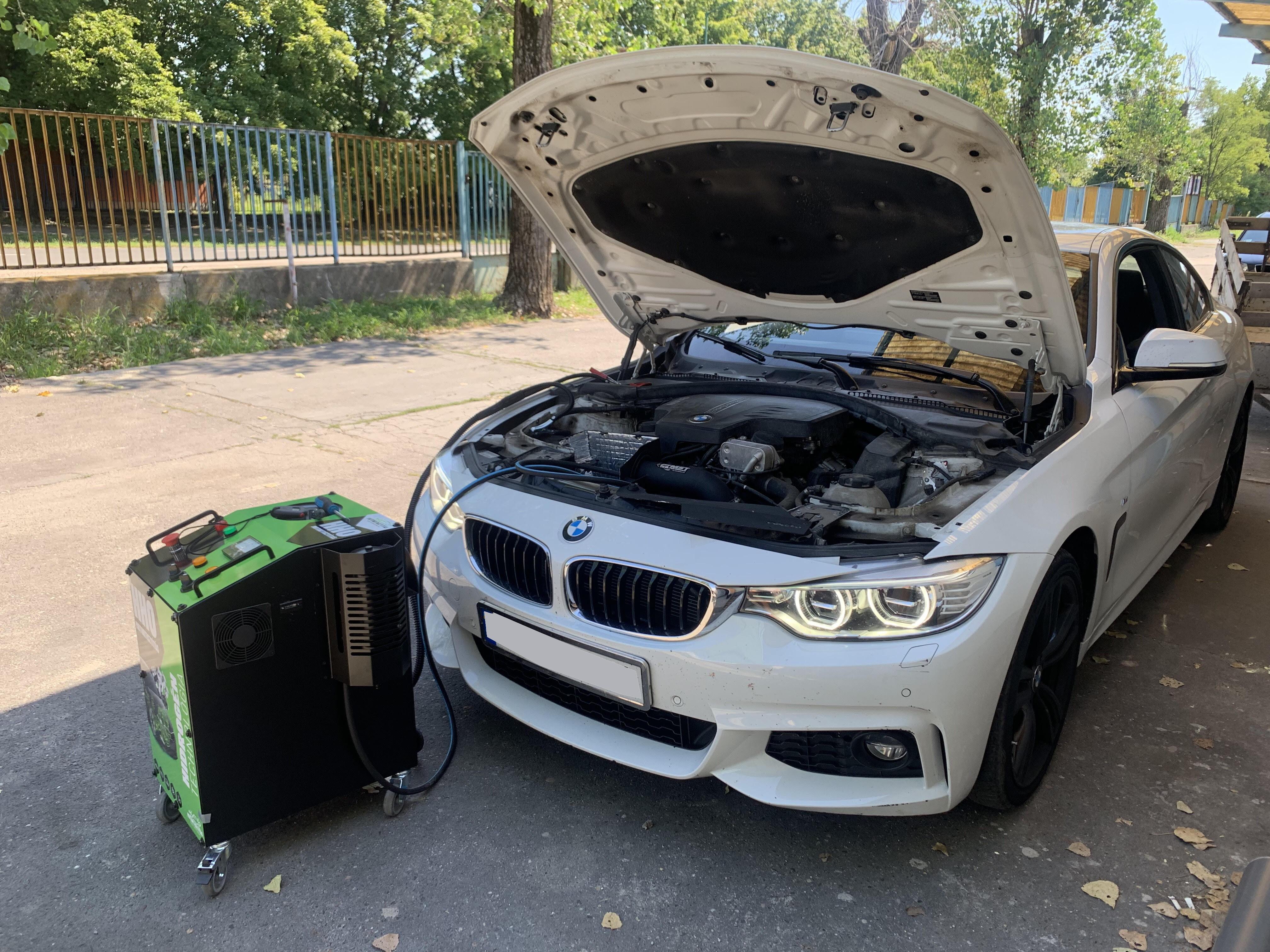 HHO Motortisztítás BMW