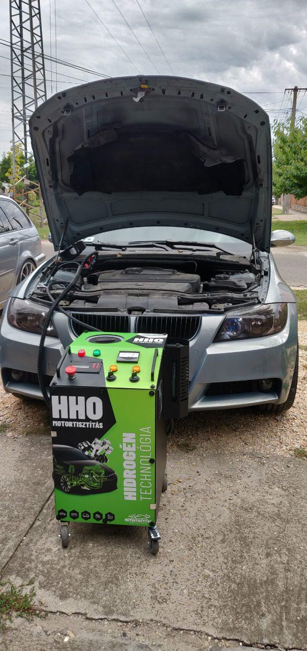 HHO Motortisztítás BMW E91 320d 163 Le