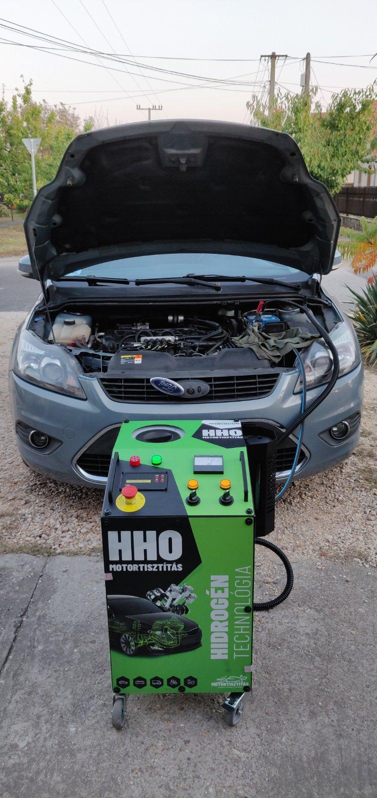 HHO Motortisztítás Ford Focus 2.0i 16V 145 Le Benzin- Gáz