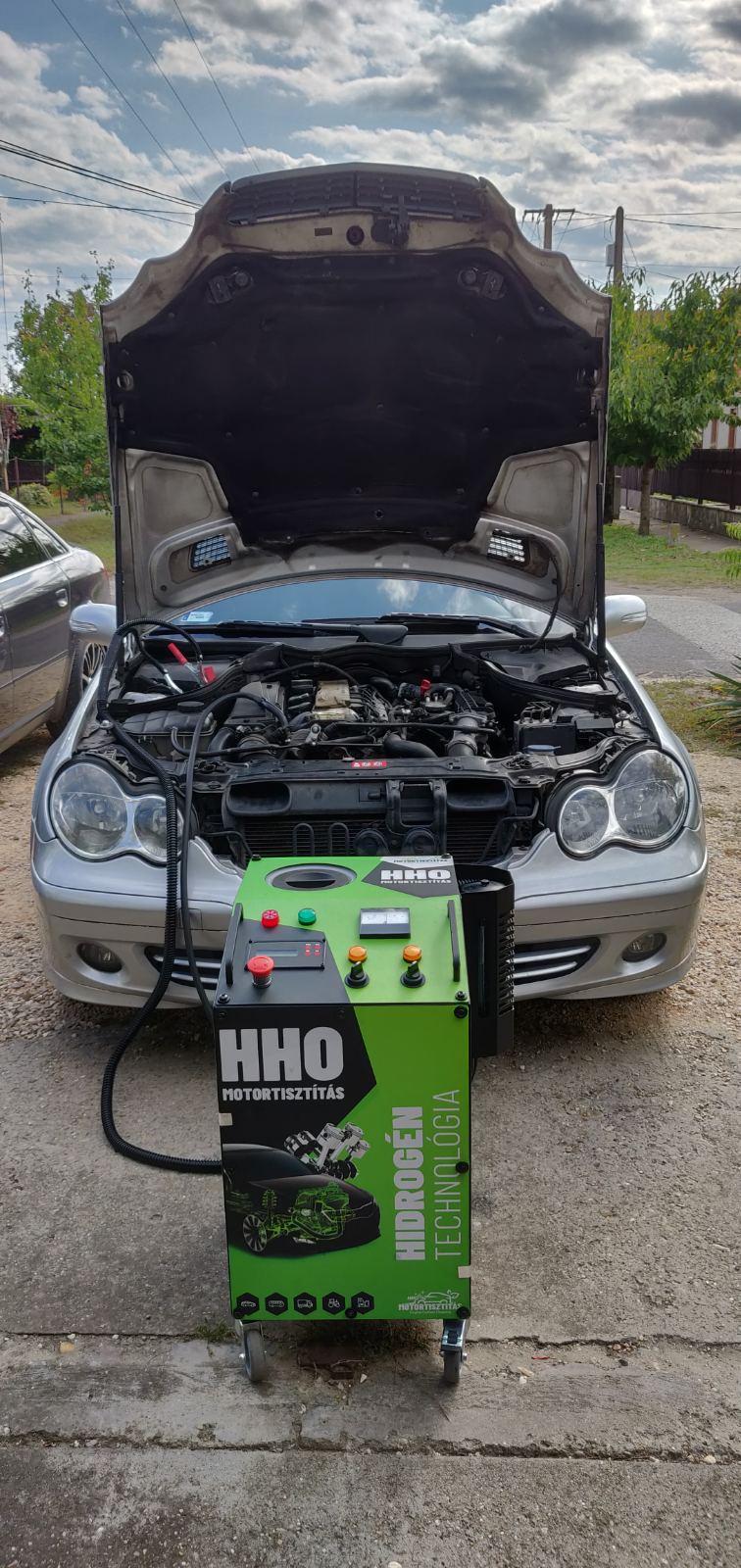 HHO Motortisztítás Mercedes C220 Cdi 150 Le Cegléd