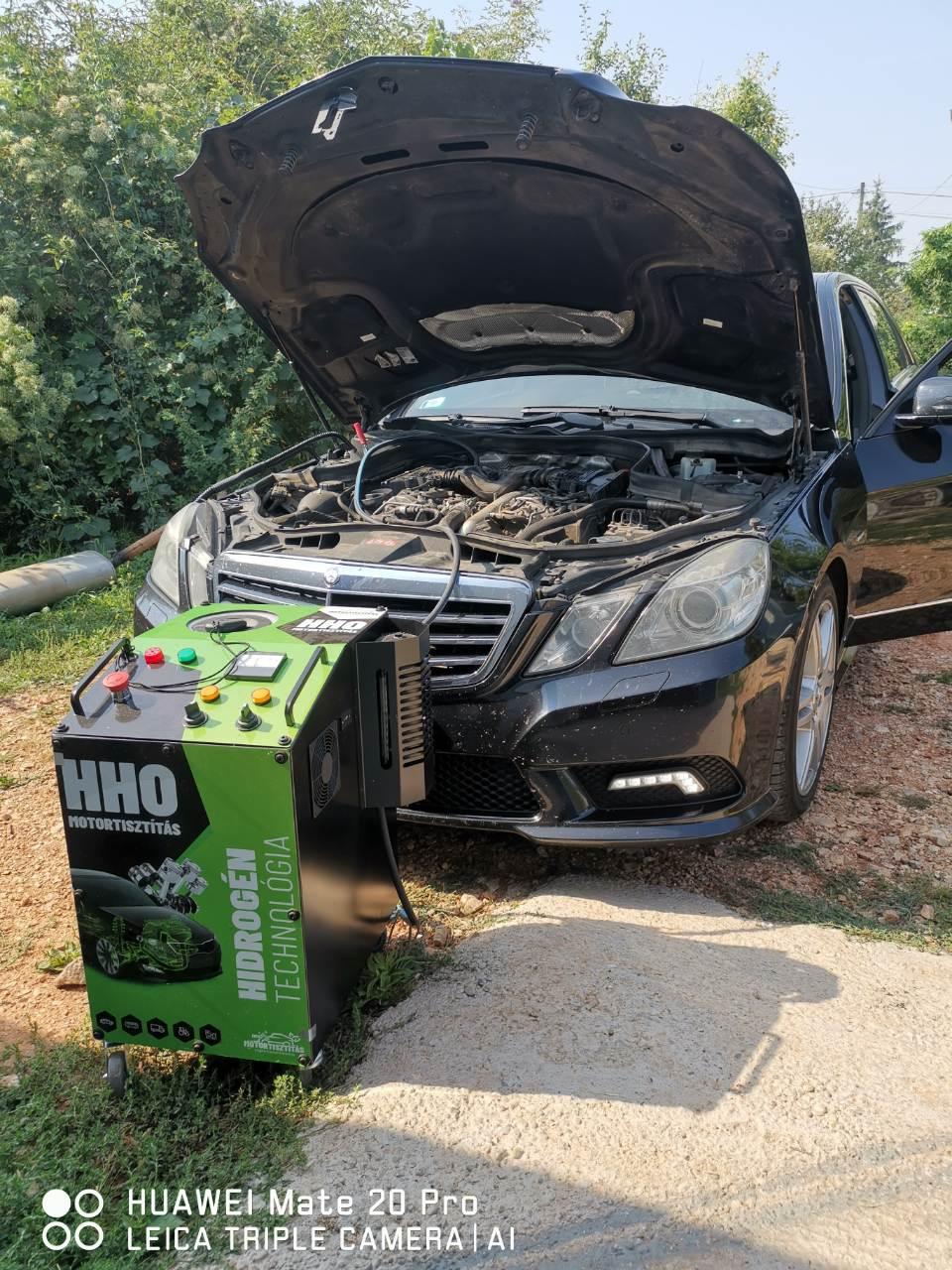 HHO Motortisztítás Mercedes W212 3.0 V6 CDI