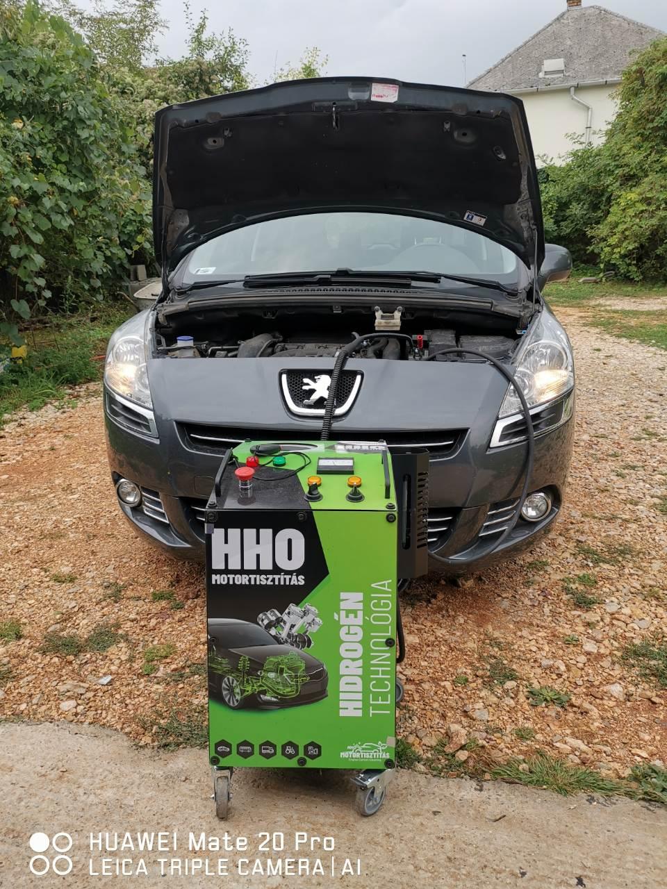 HHO Motortisztítás Peugeot 5008 1.6 Turbo Benzin 2010