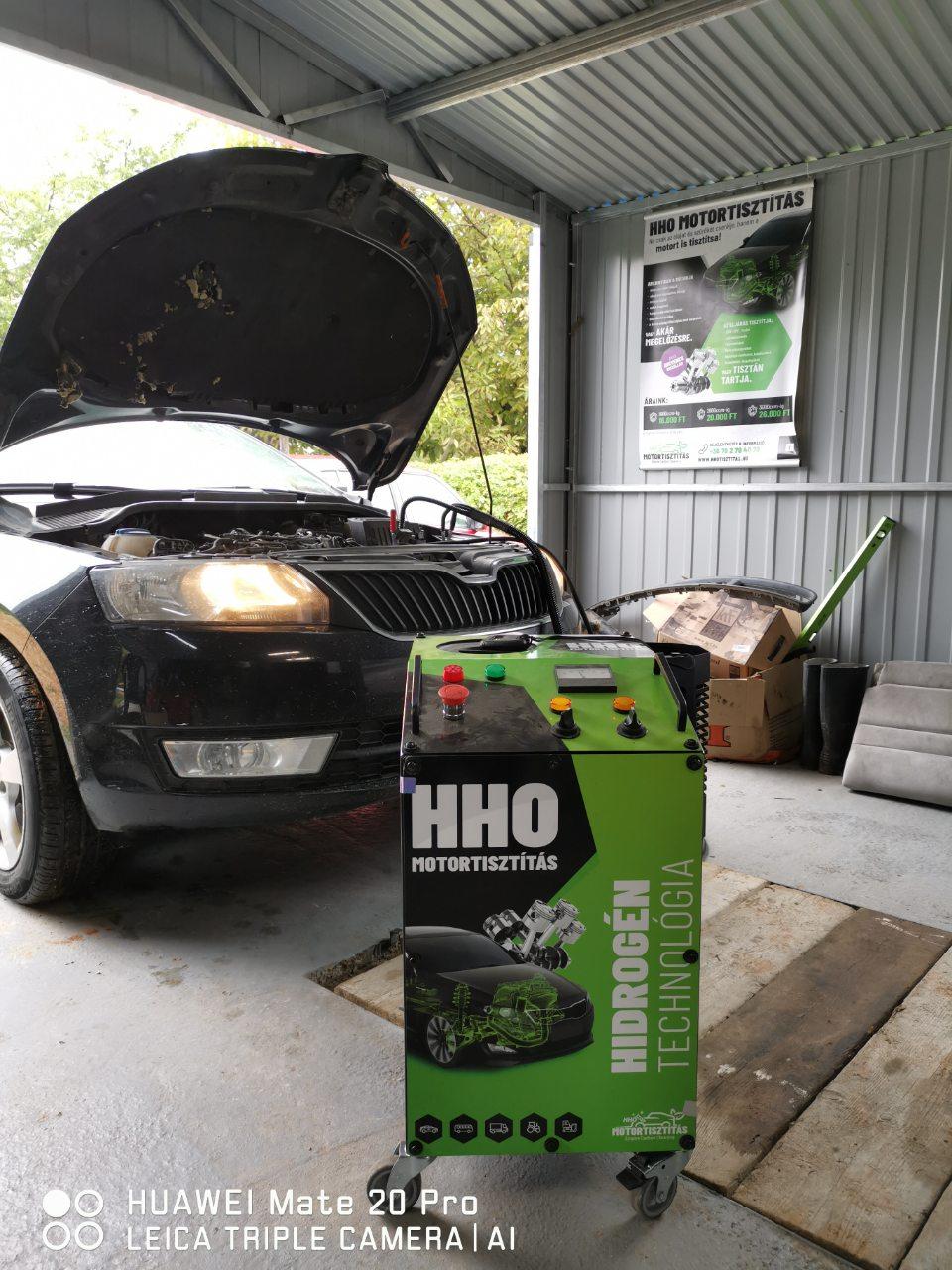 HHO Motortisztítás Skoda Rapid 1.6 CRTDI 105Le