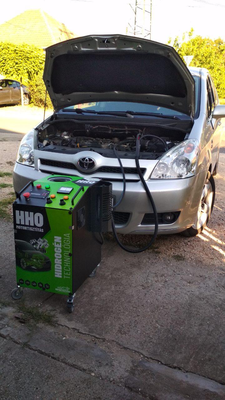 HHO Motortisztítás Toyota Verso 2.2 D4D 177Le